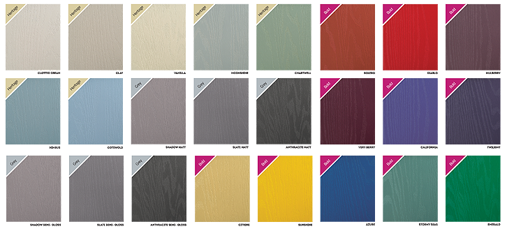 door colour swatches