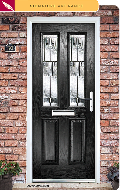 Prairie composite door glass
